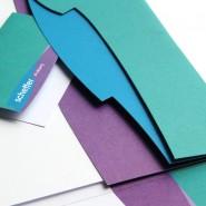 Schefferdrukkerij: Omslagmap en visitekaartje