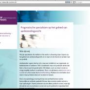 Website voor De Leeuw & Partners, juridische tak van PSI